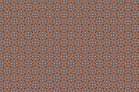 Abstract decorative textured mosaic background. Seamless pattern. Brown. Stockfoto