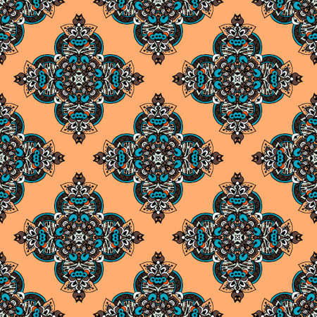 handdrawn seamless pattern in ethnic style Vector
