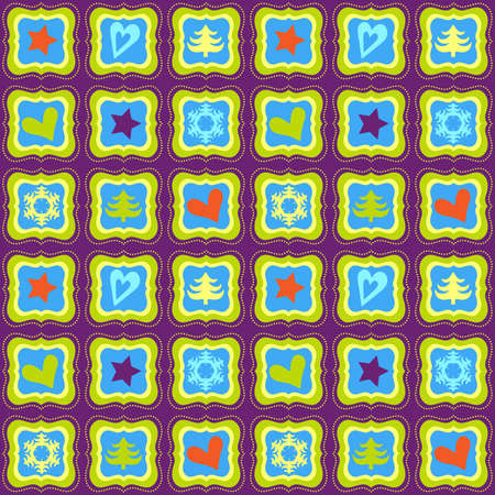 vintage style seamless patchwork pattern Vector