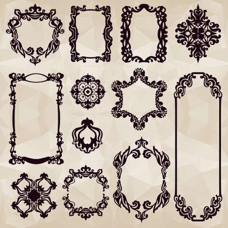 vintage frame typographic element set