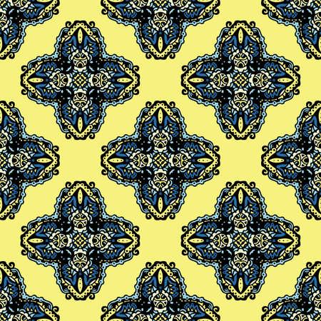 Seamless Pattern Ethnic Style Vector