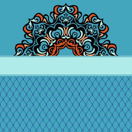 Abstract ethnic ornamental background border Ilustração