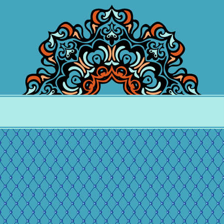 Abstract ethnic ornamental background border Vectores