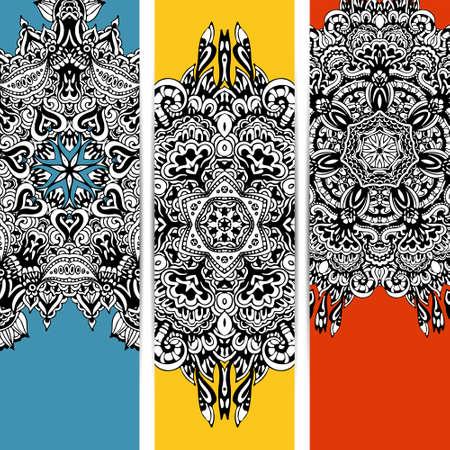 etno: trendy abstract ethnic banner Illustration
