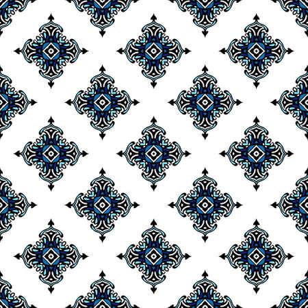 Seamless tiled pattern design Ilustração