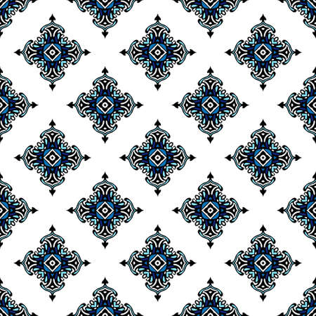 Seamless tiled pattern design Illustration