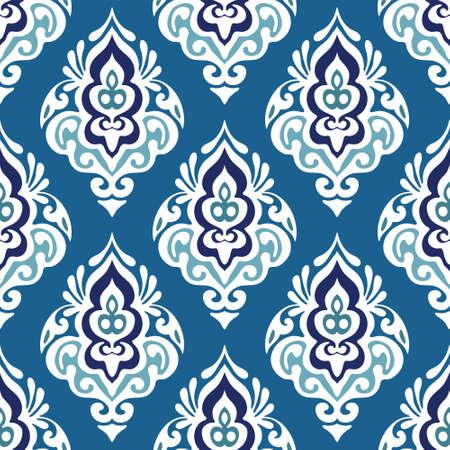 Damask floral seamless design Vectores