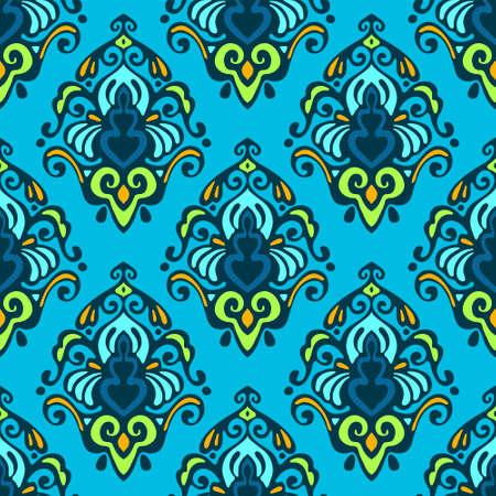 blue damask: blue damask seamless design Illustration