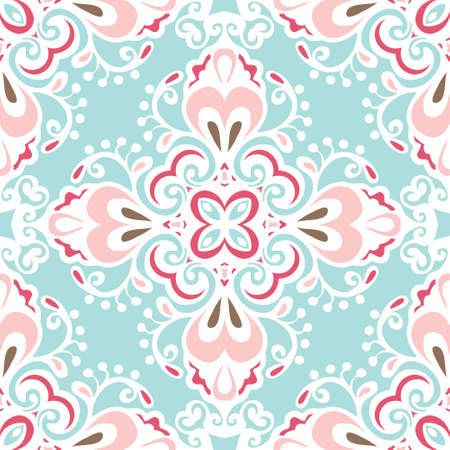 Seamless abstract floral  tiled pattern vector Vector