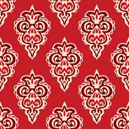 florish: Damask seamless vector pattern florish