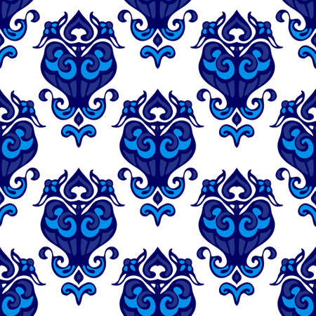 Damask flower flourish pattern Ilustração