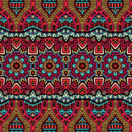 batik: Abstrait vector motif floral tribale ethnique festive et color�e