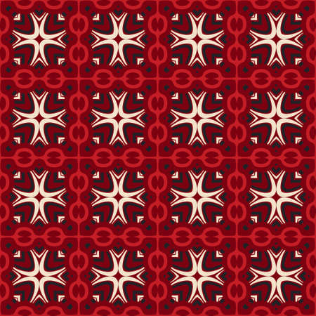 tiled: seamless pattern vector tiled geometric abstract. Christmas red gift wrap Illustration