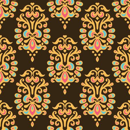 desing: Damask flower vector abstract seamless pattern .Ornamental motif desing for carpet, wallpaper, cloth fill