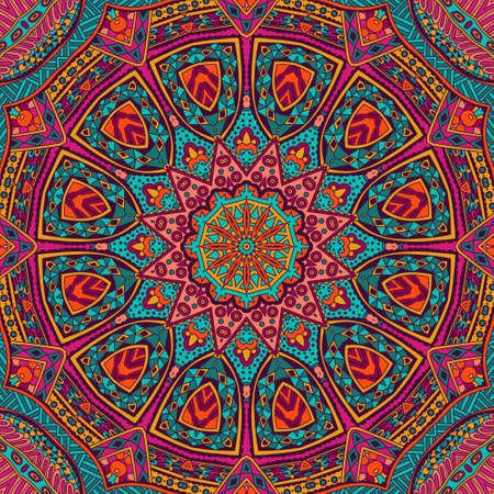 bohemia: Abstract geometric mosaic mandala vintage ethnic seamless pattern ornamental
