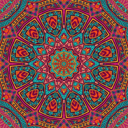 Abstracte geometrische mozaïek mandala vintage etnische naadloze patroon sier