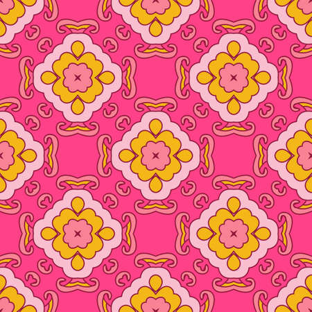 rapport: Abstract seamless ornamental vector pattern for fabric. dedsign of cereamic tiles and wallpaper