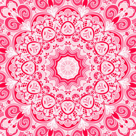 lace doily: Pink abstract Seamless pattern vector. Lace doily background Illustration