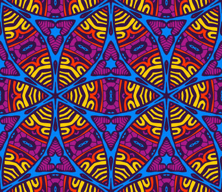 Vector abstract ethnic vintage seamless pattern tribal background