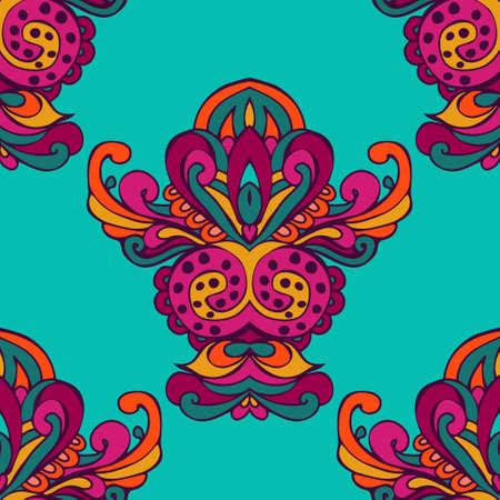 Festive Colorful Tribal ethnic seamless vector pattern ornamental