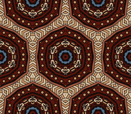 rapport: Abstract Tribal vintage ethnic seamless pattern ornamental. Festive colorful background design Illustration