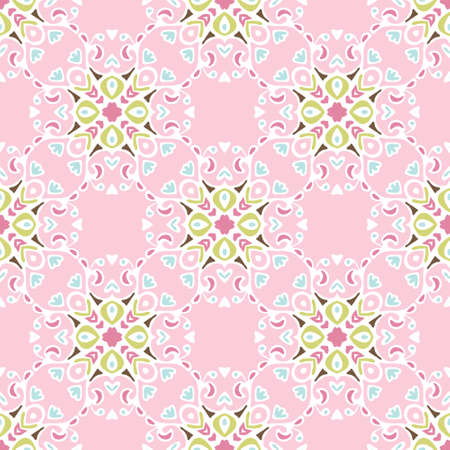 pink floral: Cute pink floral Seamless abstract tiled pattern