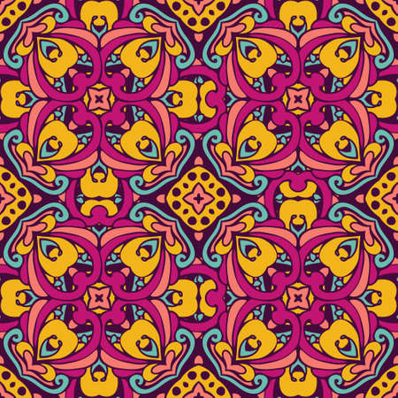 rapport: Tribal art bohemia  seamless pattern. Ethnic geometric print. Colorful repeating background texture. Fabric, cloth design, wallpaper, wrapping