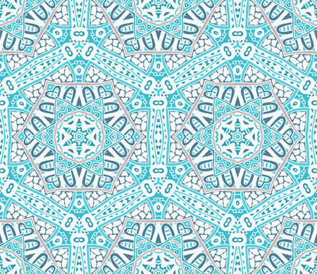 frosty: Abstract winter frosty snowflakes  background seamless vector pattern
