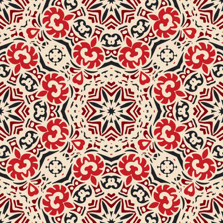 rapport: Ethnic Abstract Seamless Festive pattern background ornamental