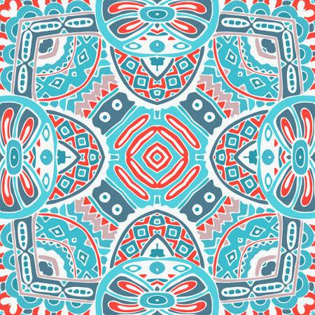 winter flower: winter flower seamless design. Festive geometric mandala pattern