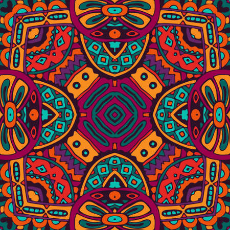 rapport: Festive Colorful Tribal ethnic seamless pattern ornamental