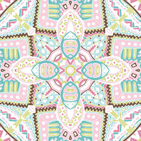 suface: cute Colorful seamless suface pattern ornamental. Geometric print.  hand drawn doodle graphic Illustration