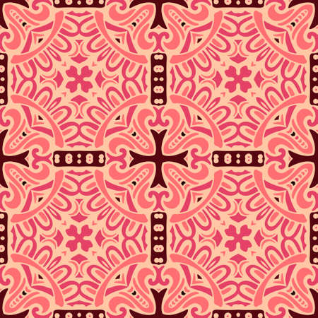 oriental vector: Oriental vector classic pattern. Seamless abstract background with repeating elements. Illustration