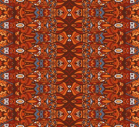 seamless indian ethnic tribal pattern. Geometric stripe background Illustration