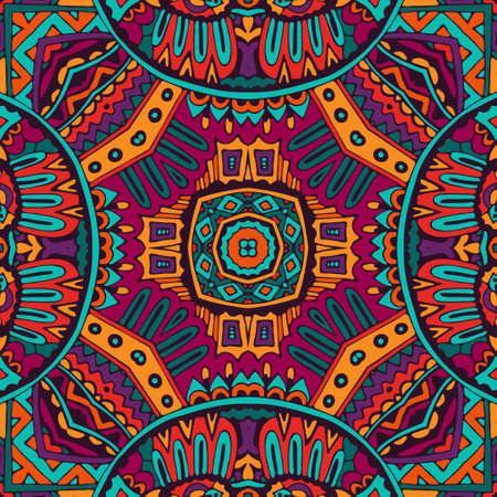Abstract festive colorful mandala ethnic tribal pattern