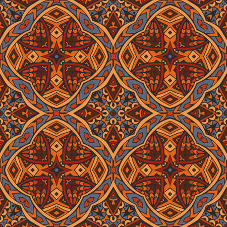 intricate: Sacred geometry intricate seamless ethnic tribal pattern