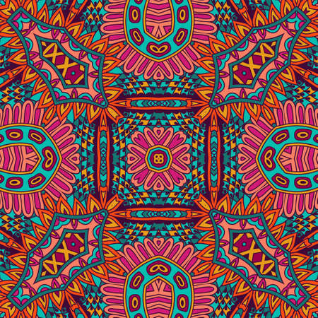 Abstract geometric mandala vintage ethnic seamless pattern ornamental