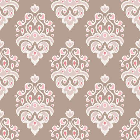 vintage seamless vector damask pattern web background