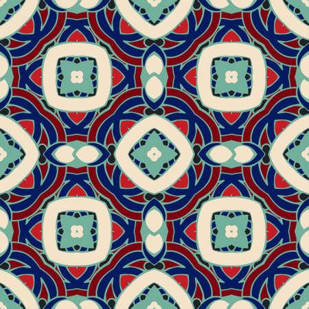 tiled: Abstract geometric background. Mosaics tiled retro vintage vector seamless pattern Illustration