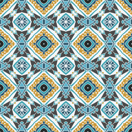 Abstract seamless ornamental vector pattern for fabric Illustration