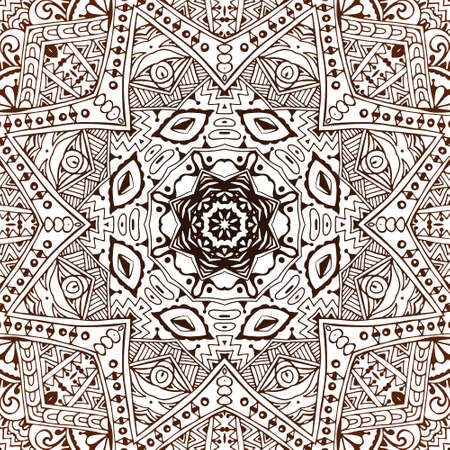 tine: Abstract hand drawn vintage ethnic pattern. Tine art doodle