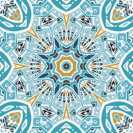 absract: absract seamless african ethnic tribal geometric mosaic print