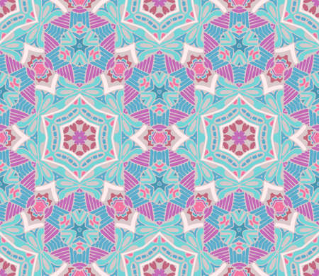 Vector seamless pattern, geometric repeating texture. Tribal ethnic lace tiled  ornament. Illustration