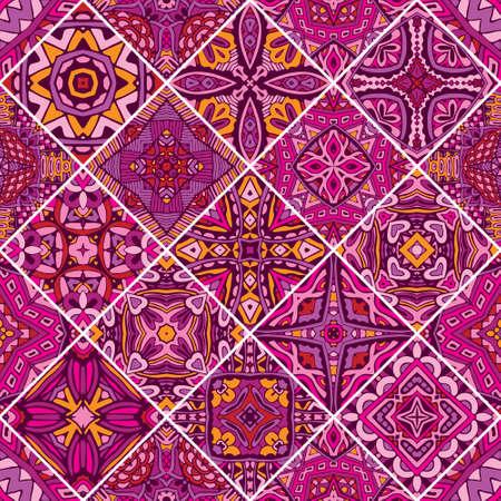 Seamless pattern. Vintage decorative elements. Oriental pattern, vector illustration. Islam, Arabic, Indian, Turkish, Pakistan, Chinese, Moroccan, Ottoman motifs Vectores