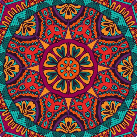 Abstract geometric mosaic vintage ethnic seamless pattern ornamental