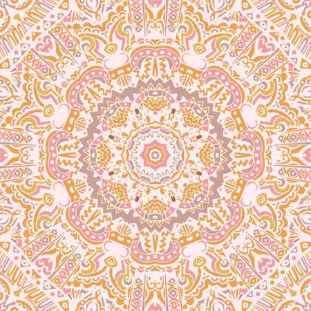 Abstract geometric vintage ethnic ornamental Ilustrace