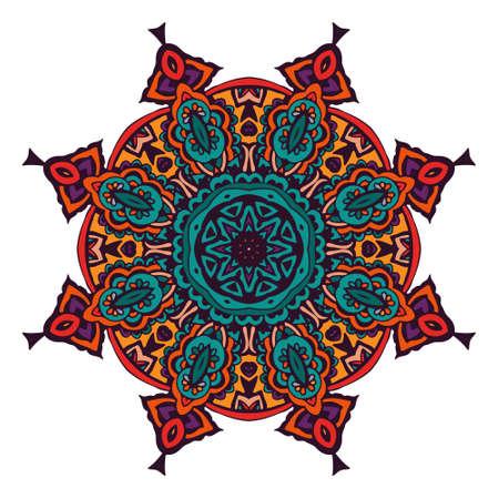 abstract mandala design ornamental Ilustração