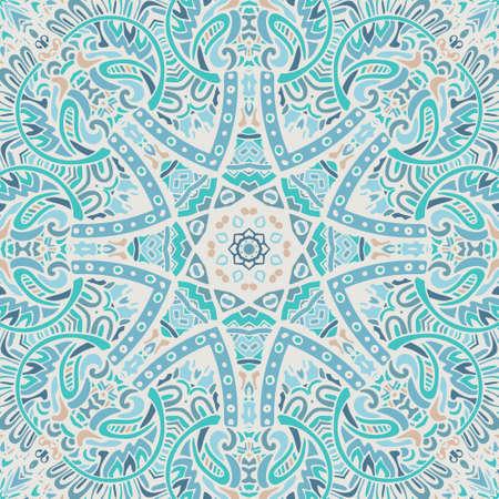 vintage blue mandala background Ilustrace