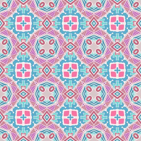 abstract bohemian Hand drawn graphic print. Seamless ornamental pattern