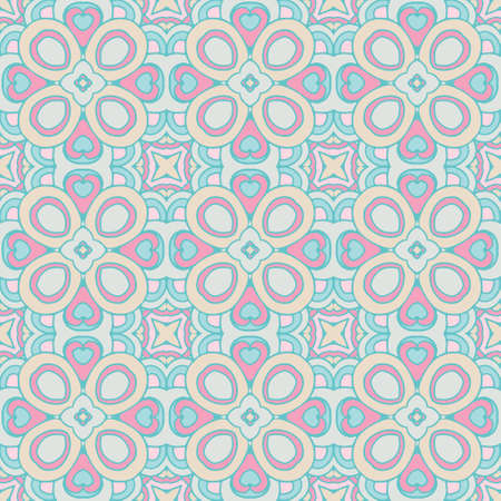 Damask pattern tiles Illustration